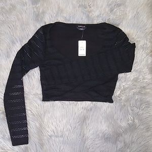 Bebe crop top black size XS